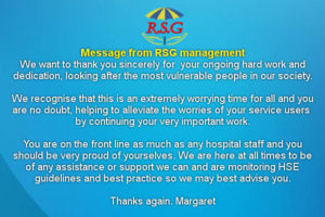 rsg message 19 03 20